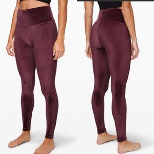 Lululemon Wunder Lounge High-Rise Velvet Legging